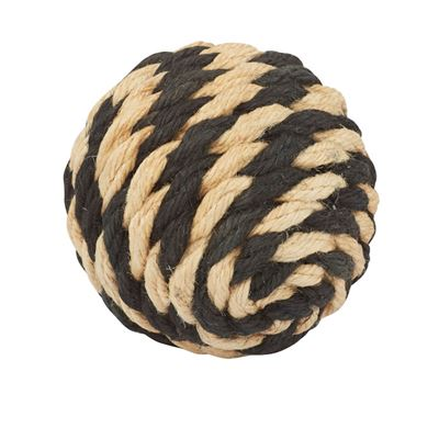 Hamptons Deco Ball 12cm Nat