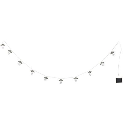 Industrial LED Garland 10 Bulbs Solar 1.35m