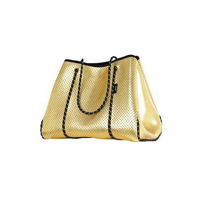 Neoprene Tote Bag Gold