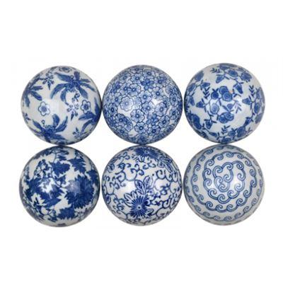 Ceramic Deco Ball 10cm - assorted prints