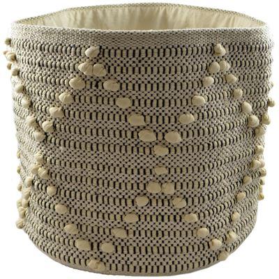Basket Cotton Diamond Knot 30X30Cm Round