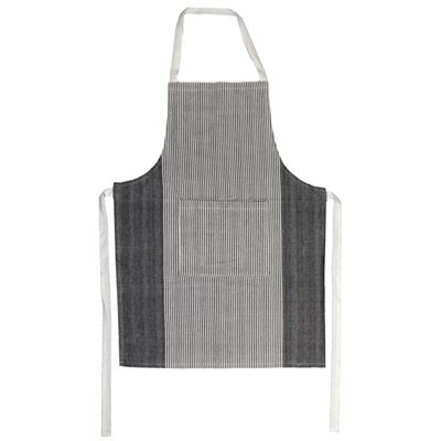 Apron Cotton Hairline Black 60X84cm