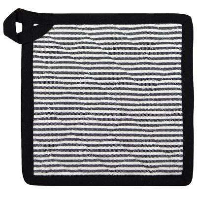 Potholder Cotton Hairline Black 20cm