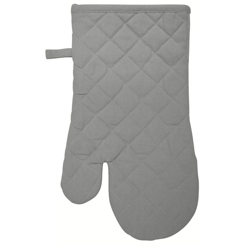 Oven Glove Cotton Warm Grey 16X32cm