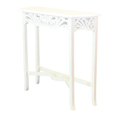 Art Nouveau Hall Table White
