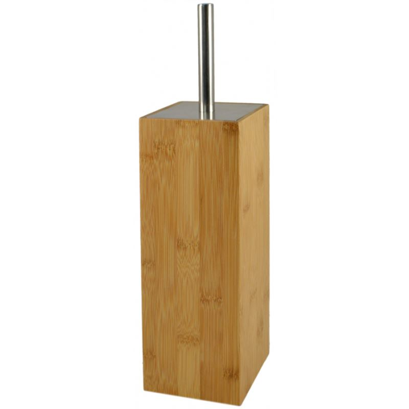 Toilet Brush & Holder Bamboo 10x37cm
