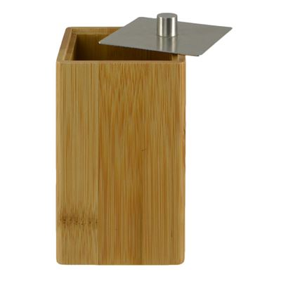Storage Cannister Bamboo 6x12cm Square