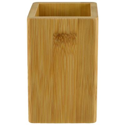 Square Bamboo Bathroom Cup 6x11cm