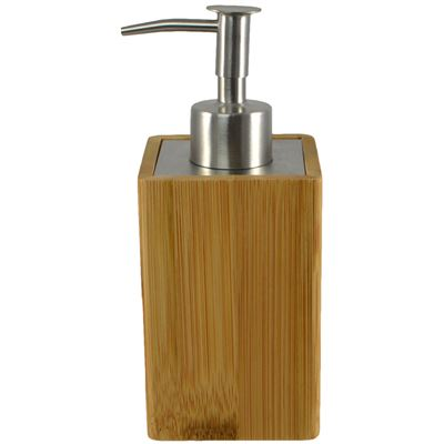 Lotion Dispenser Bamboo 6x17cm Square