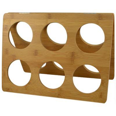 A Frame Wine Rack Bamboo 35x13x25cm