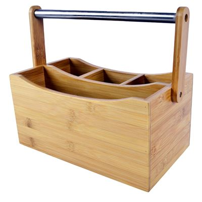 House Caddy Bamboo 26X15X13cm 4 Section