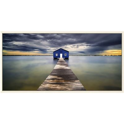 Stormy Jetty Canvas Wall Print