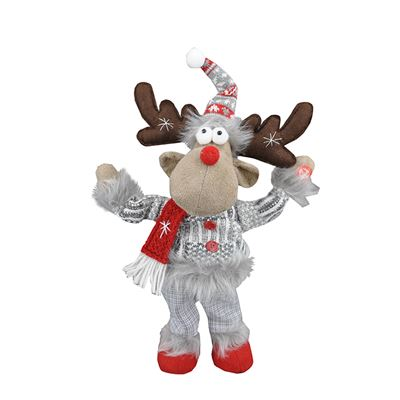 Xmas Dancing Musical Moose Waving 25x9x31cm