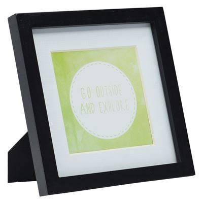 Gallery Frame Black 17.5x17.5cm - 12.5x12.5cm Open
