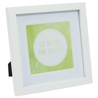 Gallery Frame White 17.5x17.5cm - 12.5x12.5cm Open