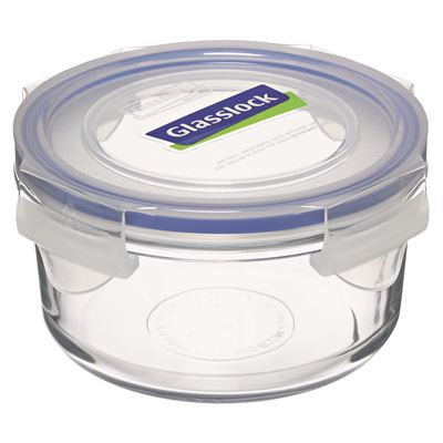 Glasslock Round Tempered Glass Container 400ml