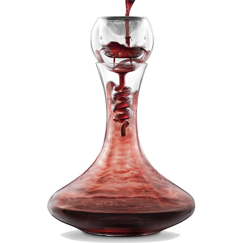 Twister Decanter and Glass Aerator