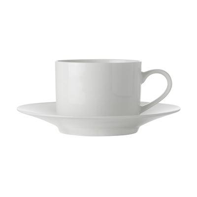 White Basics Straight Cup & Saucer 250Ml
