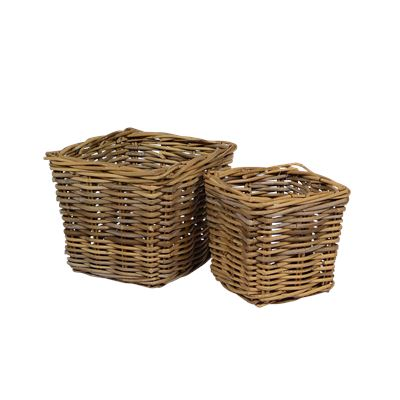 Kubu Grey Pot Basket Large
