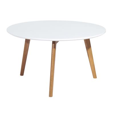 Kari Coffee Table White & Oak 90cm
