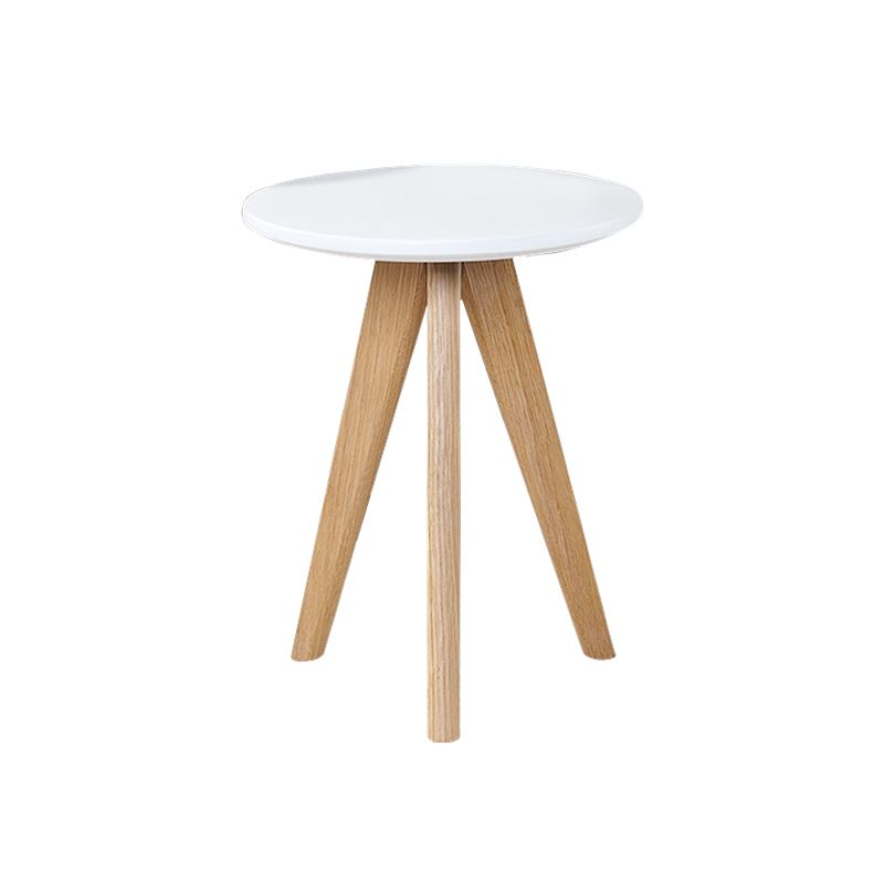 Kari Side Table White & Oak Large