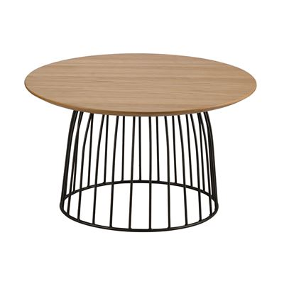 Hendrik Side Table Black & Oak 60cm