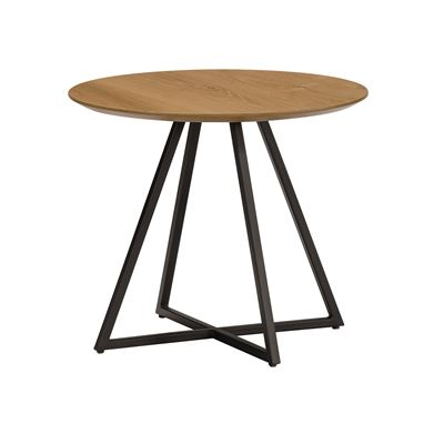 Hendrik Side Table Black & Oak 50cm