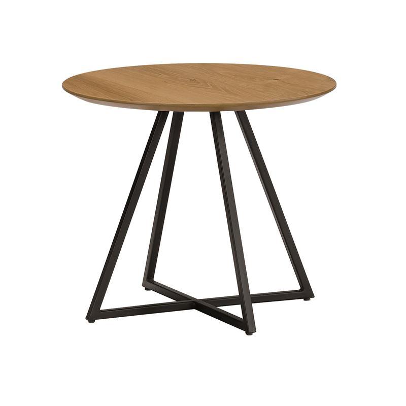 Hendrik Side Table Black & Oak 50cm