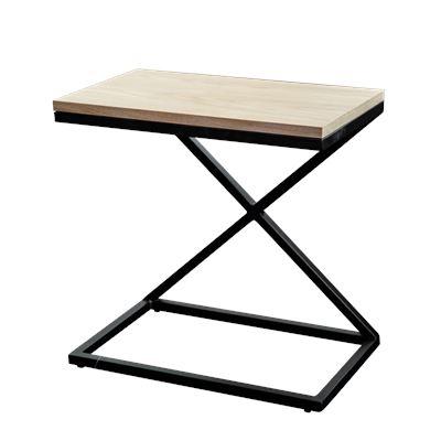 Hendrik Bedside Black & Oak 50x30cm