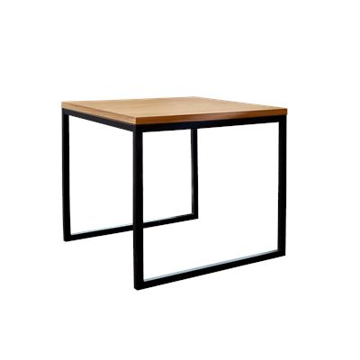 Hendrik Side Table Black & Oak Small