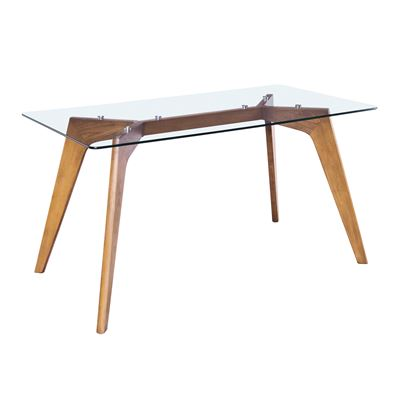 Astrid Dining Table Glass & Oak 160cm