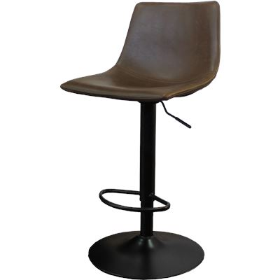 Harvey Bar Stool Gas Lift Dark Brown