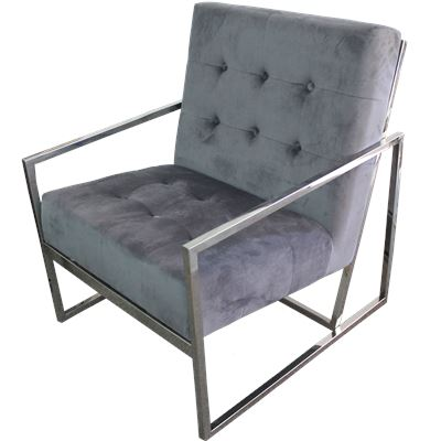 Metal Frame Arm Chair Charcoal