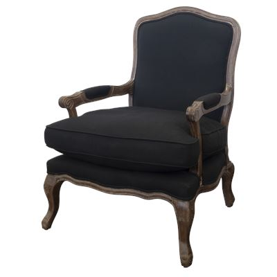 French Armchair Black