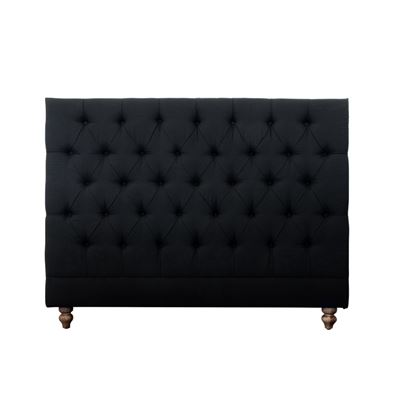 Double Bed Head Studded Black