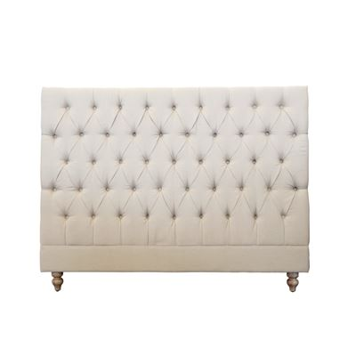 Queen Bed Head Studded Taupe