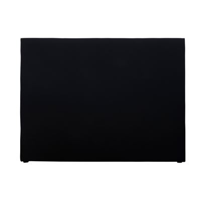 Double Bed Head Plain Linen Black