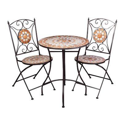 Brown & Natural Mosaic Bistro Table