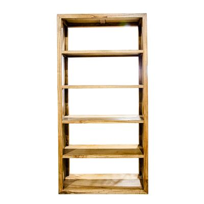 Bookshelf Display Unit Natural Wood 90x180cm