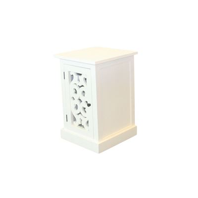 Chateau Bedside Table White