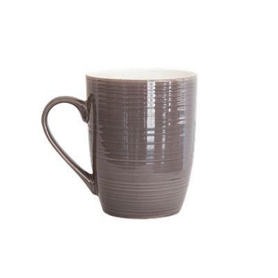 DO NOT USE Ceramic Mug Charcoal 325ml Pk4