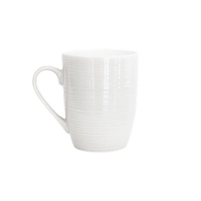 Ceramic Mug White 325ml Pk4