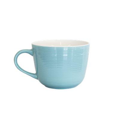 DO NOT USE Ceramic Soup Mug Aqua Blue 530ml Pk2