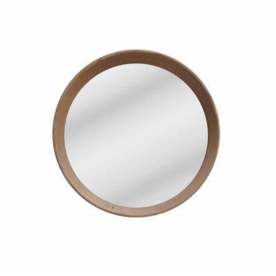 Oak Mirror Round 33x33cm