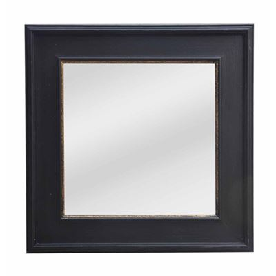 Classic Mirror Black & Gold Square 103cm