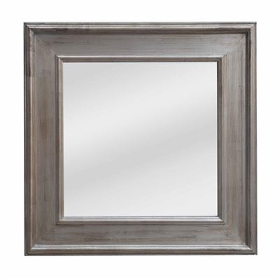 Classic Mirror Country Silver Square 103cm