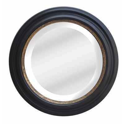 Classic Mirror Black & Gold Round 110cm