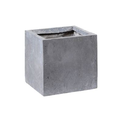 Clayfibre Cubi Pot Grey 28x28cm