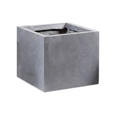 Clayfibre Cubi Pot Grey 34x30cm