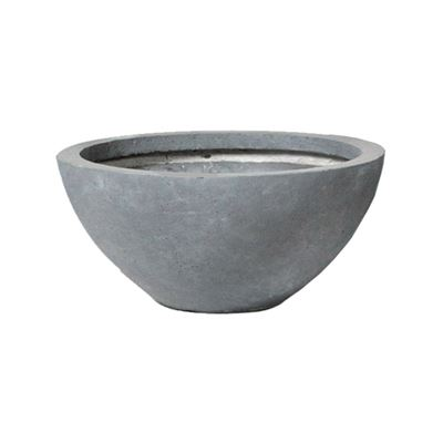 Clayfibre Low Bowl Grey 45x20cm